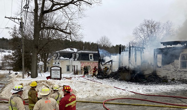 Fire Destroys Historic Methodist Church in Middlesex