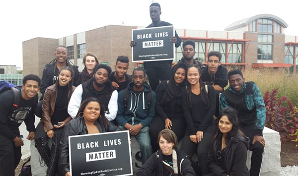 UVM Students Rally Day After Black Lives Matter Flag Theft