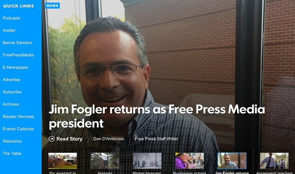 Media Note: Getler Out, Fogler In at <i>Burlington Free Press</i>