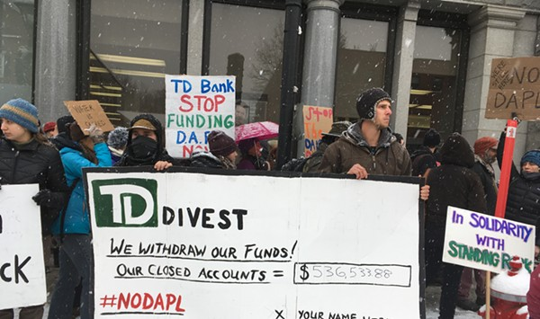 Dakota Access Pipeline Opponents March on TD Bank in Montpelier
