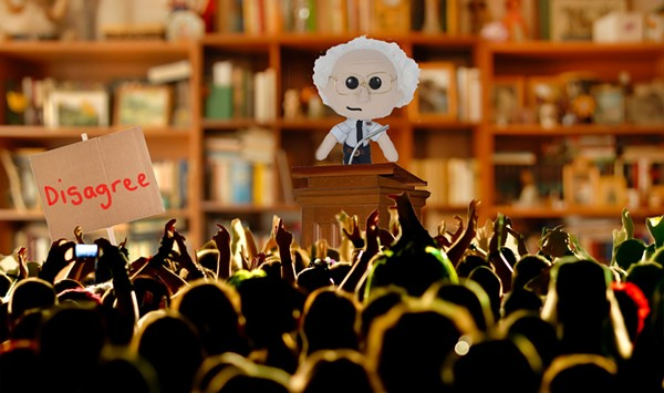 The Parmelee Post: Stuffed Bernie Sanders Doll Faces Tough Questions at Town Hall
