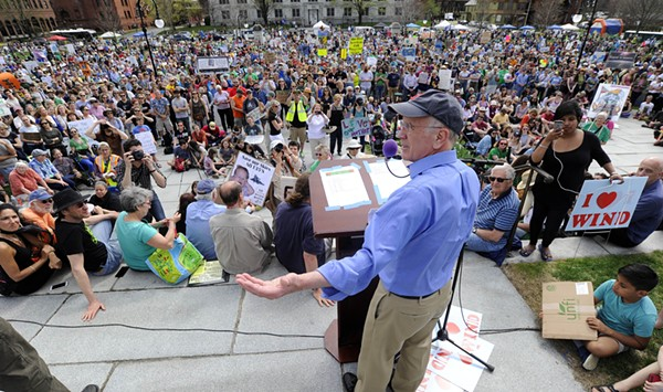 Protesters Rally at the Statehouse Over Climate Issues