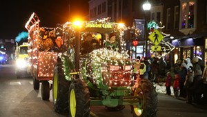 Stuck in Vermont: Holiday Lights at the St. Albans Cooperative Tractor Parade