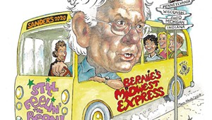 Bernin' Rubber: Inside Sanders' Rust Belt Road Trip
