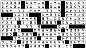 """Crossword: """"Taking Out the Middle"""" (4/15/20)"""