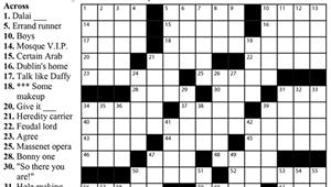"Crossword: ""Library Items?"" (4/29/20)"