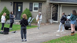 Band-ing Together: Students Play Front Yard Concerts for Frontline Workers