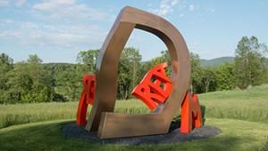 David Stromeyer Makes Boulder Moves at Cold Hollow Sculpture Park