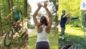 Outdoor Adventures: Mountain Biking, Disc Golf and Yoga by the Lake