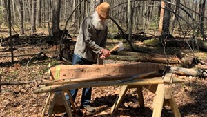 Stuck in Vermont: Tom Locatell Hews Fallen Trees at Gilbrook Nature Area in Winooski