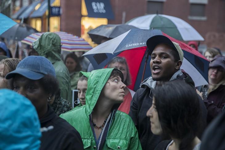 Photos: A Burlington Vigil and Protest for Alton Sterling and Philando Castile