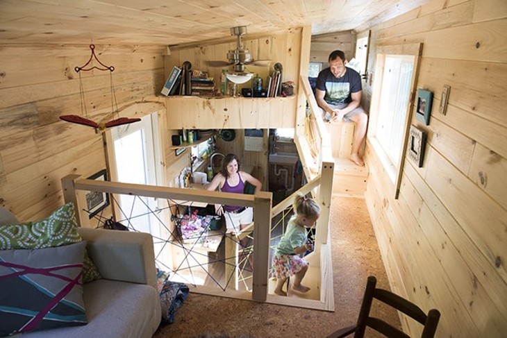 Living small a family of three makes a tiny house their home home tours seven days - Houses for families withchild ...