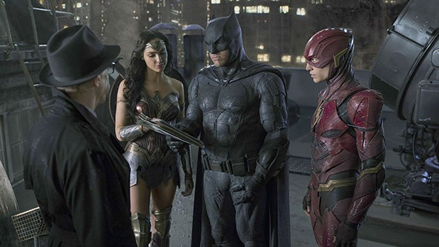 GLOWER POWER Affleck takes pointers on lightening up from Gadot and Miller in Snyder's superhero-franchise builder.