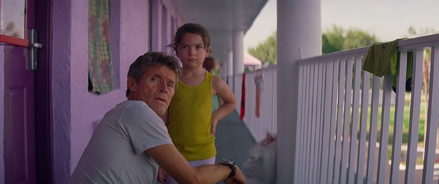PURPLE HAZE Dafoe plays a motel manager and unofficial babysitter in Baker's vital slice-of-life drama.
