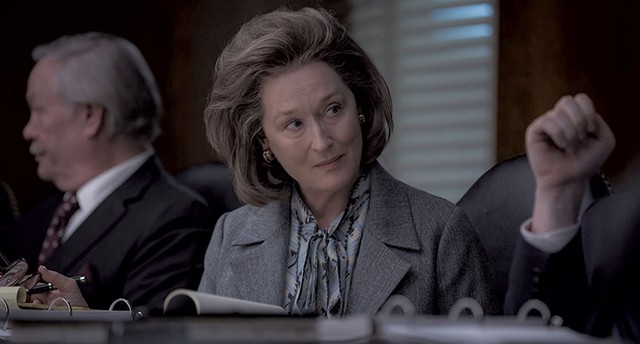 A WOMAN'S PLACE Streep stars as Washington Post owner Katharine Graham, the country's first female newspaper publisher.