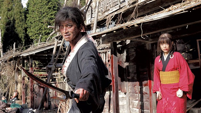 SHARP ATTACK Viewers are treated to a surreal slice of samurai life in Miike's phantasmagoric new film.
