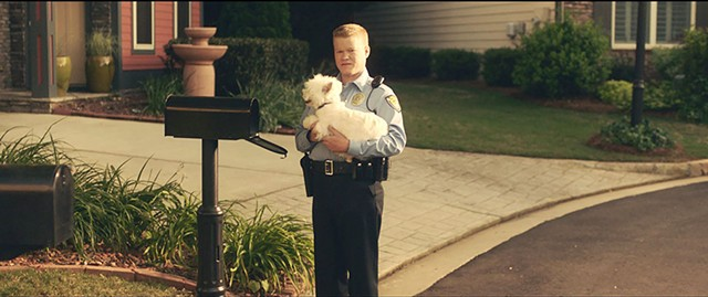 ARRESTING OFFICER Plemons proves to be the secret weapon in the year's funniest film thus far