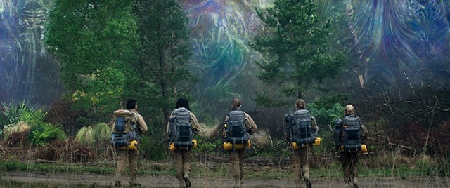 MISSION IMPASSABLE Portman and co. set out to explore what looks like a giant soap bubble in Garland's brainy sci-fi flick.