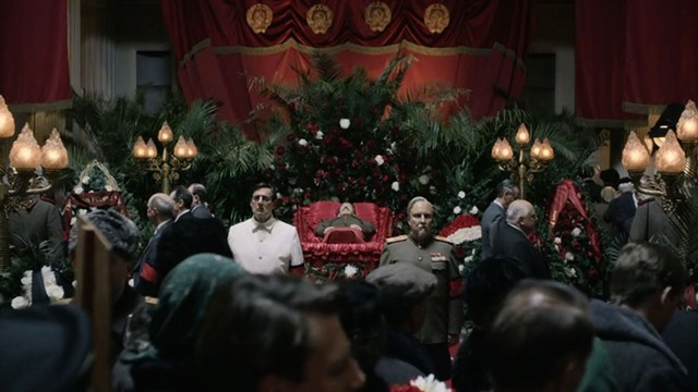 FOUR WEASELS AND A FUNERAL The funniest thing about Iannucci's riff on Stalin-era Russia is Putin taking it seriously enough to ban it from his country's theaters.