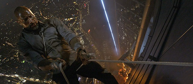 DON'T LOOK DOWN Johnson makes a perilous descent in  Thurber's serviceable but uninspired action flick.