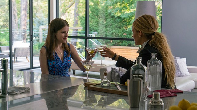 MARTINI MAMAS Lively tries to convince Kendrick to take a walk on the wild side in Feig's campy comedy-thriller.