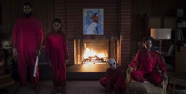 DOUBLE TROUBLE A family gets a surprise visit from their doppelgängers in Peele's latest mind-bending scare film.