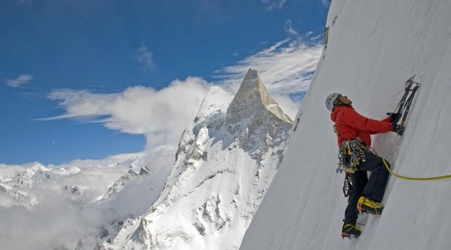 SLIPPERY SLOPE: Chin and Vasarhelyi's adventure documentary is a firsthand chronicle of a seemingly impossible Himalayan ascent.