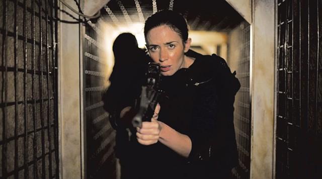 SHADOW PLAY: Blunt crosses many borders in Villeneuve's dark drug-war drama.