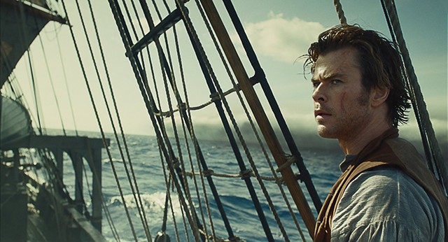 WHALE OF A STORY Hemsworth plays a whaler who hunts the wrong pod in Howard's Melville-inspired sea adventure.