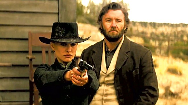 MISFIRE See Jane's gun. See Jane shoot. See long-delayed western vehicle for Portman flop at box office.
