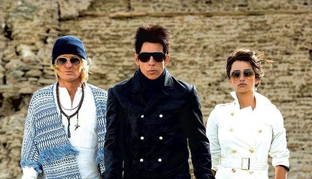 FASHION VICTIMS Wilson, Stiller and Cruz strike their time-to-defeat-an-evil-mastermind poses in this silly sequel.