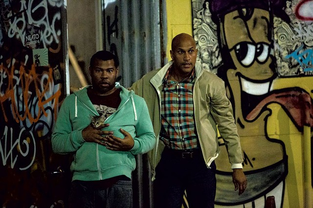 FELINE TROUBLE Two friends venture into the mean streets in pursuit of a teeny tabby in Key and Peele's first feature comedy vehicle.