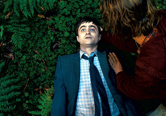 IT'S A GAS Radcliffe plays a corpse with flatulence issues in this extremely offbeat indie comedy.