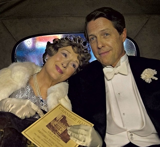 VOCAL SUPPORT Streep plays a pitch-imperfect songbird and Grant her biggest cheerleader in Frears' fact-based drama.