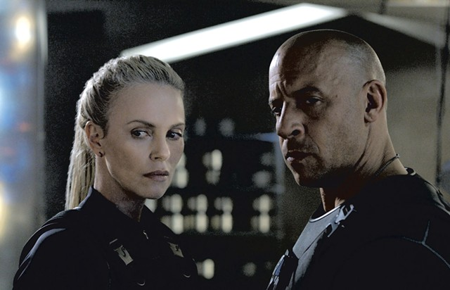 I AM FURIOUS, YELLOW Theron plays a flaxen-haired hacker who ropes Diesel into her evil scheme in the action series' eighth installment.