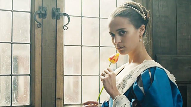 FLOWER POWER Vikander plays an unhappy wife in Chadwick's uneven historical drama about a time when tulip bulbs fetched a fortune.