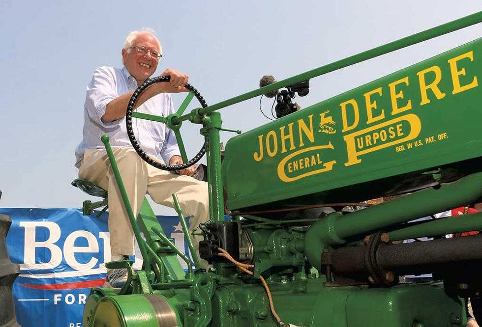 Bernie campaigning in Iowa, July 2015. - DEBRA KATZ