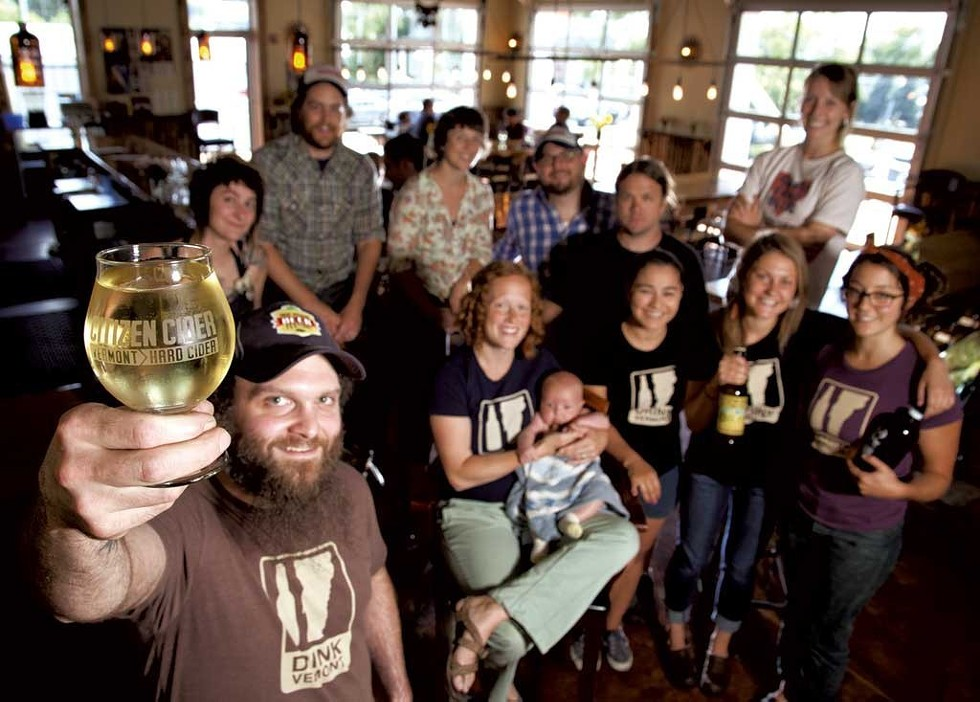 Citizen Cider staff at the tasting room - MATTHEW THORSEN