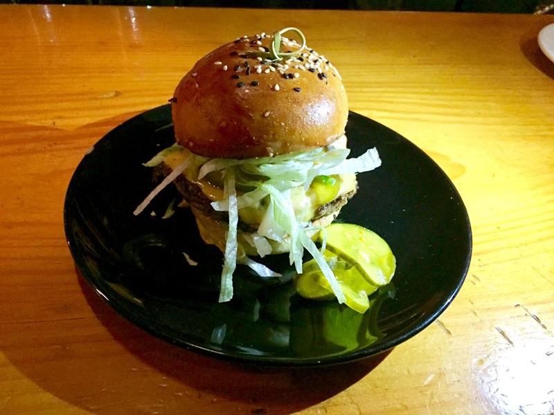 400 burger on the bar - SALLY POLLAK