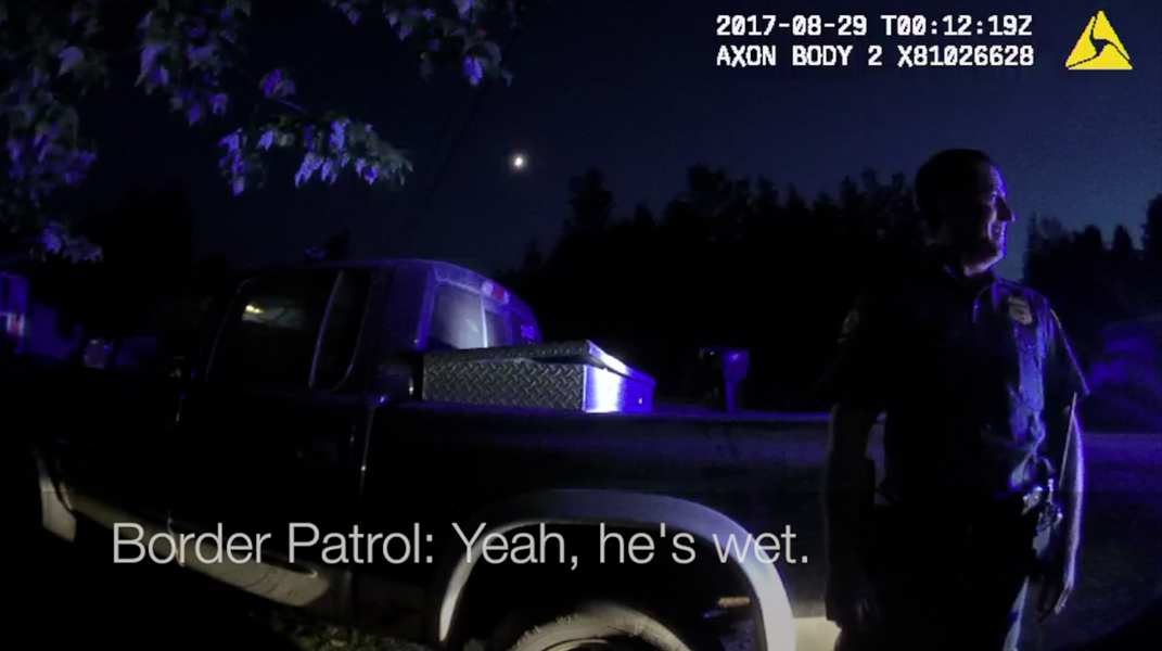 Body camera footage from a Franklin County sheriff's deputy - SCREENSHOT