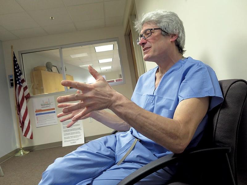 Dr. Steven Shapiro at his office in 2016 - MATTHEW THORSEN