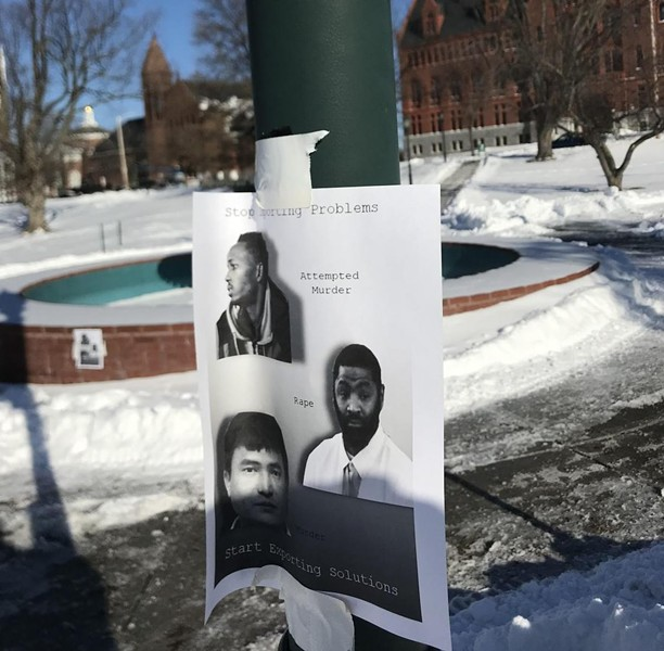 One of the flyers that was posted on the University of Vermont campus - COURTESY: THE VERMONT CYNIC