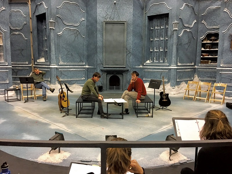 Northern Stage actors in rehearsal for last year's New Works Now festival