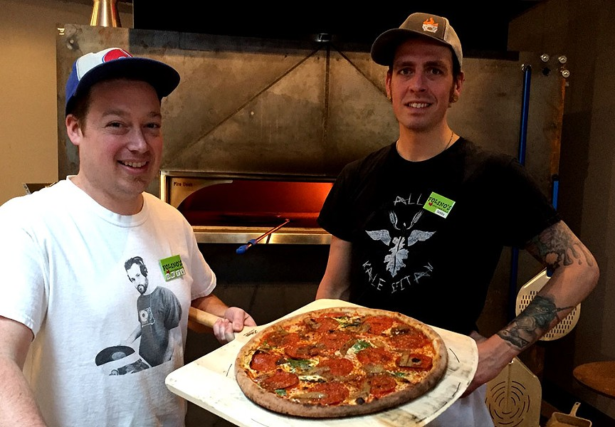 Seth Desrochers (left) and Bobby Seaman at Folino's in Burlington - COURTESY OF FOLIINO'S