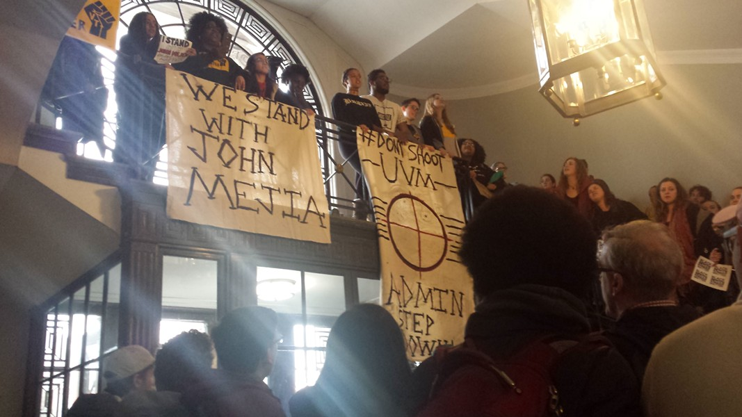 UVM students inside the Waterman Building - KYMELYA SARI