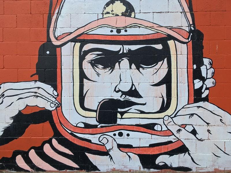 S.P.A.C.E. Gallery's spaceman mural - RACHEL ELIZABETH JONES