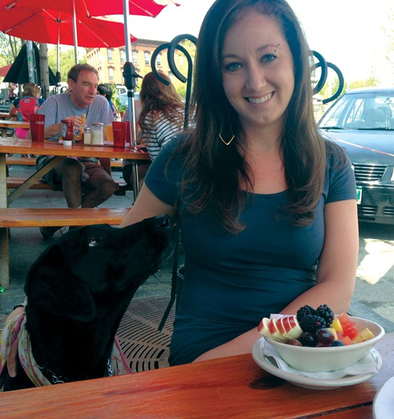 Al fresco dining at Sneakers Bistro - MOLLY WALSH