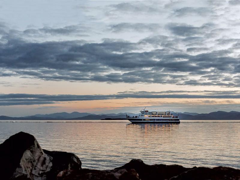Sunset cruise on Lake Champlain - COURTESY OF JENNA BRISSON