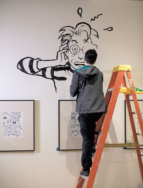 Alison Bechdel painting - PHOTOS COURTESY OF FLEMING MUSEUM