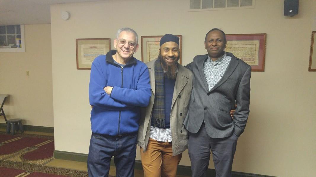 From left to right: Taysir Al-Khatib, Abd'Llah Al-Ansari, Yusuf Ali - SAMANTHA LORD-KONARE